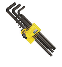 Sealey Ball-End Hex Key Set 9pc Extra-Longues Imperial-S01099
