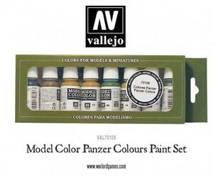 Vallejo-modele-VAL70108-Color-Paint-Set-Panzer-Couleurs-8-X-17-ml-bouteilles