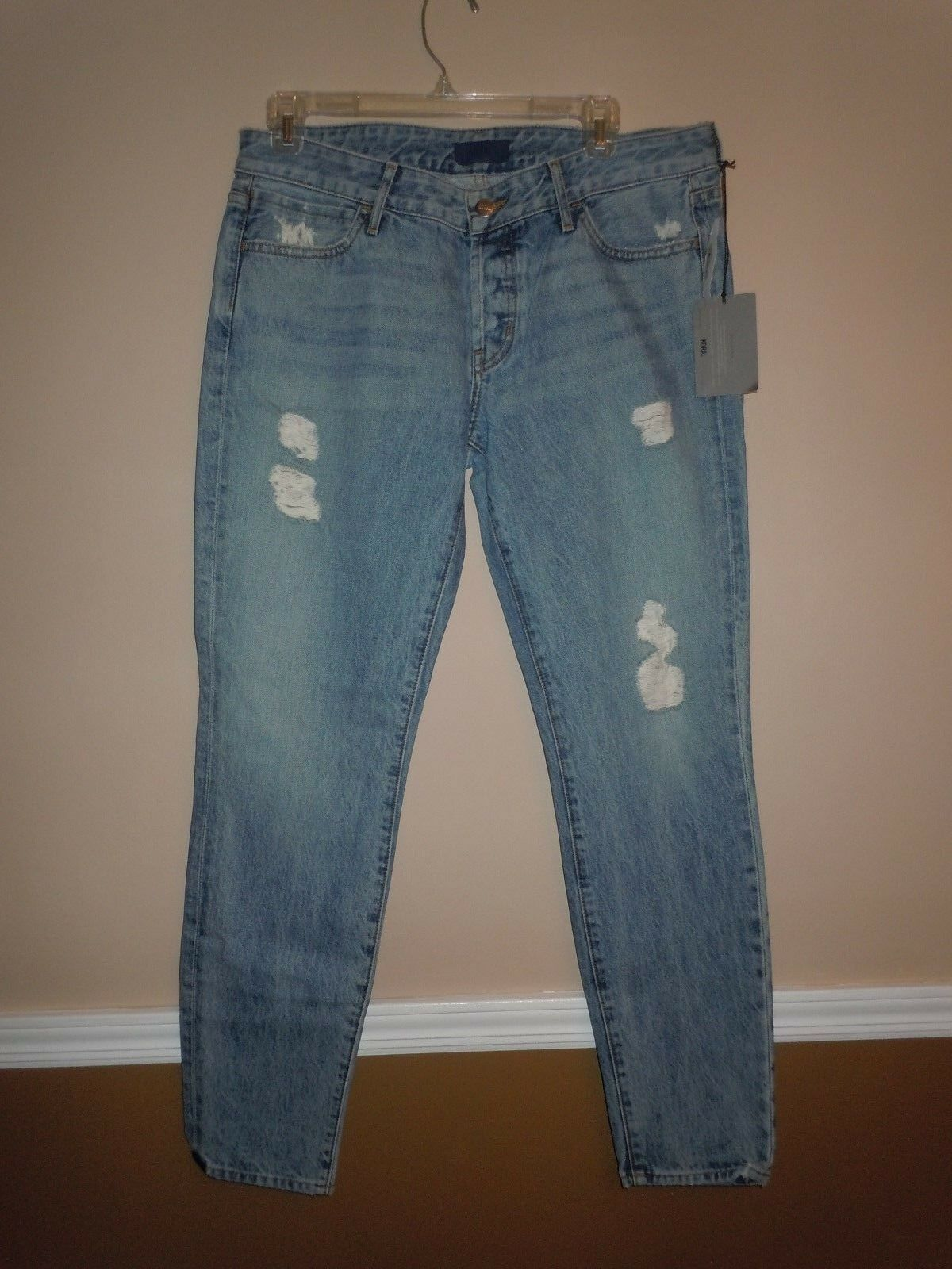 NWT Womens Koral Rigid Relaxed Skinny bluee Ripped Ankle Jeans  Size 28