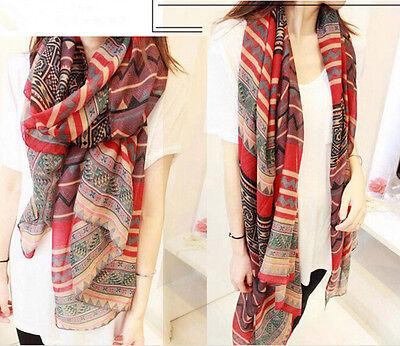New Fashion Women Lady Long Soft voile Print Scarves Shawl Wrap Scarf