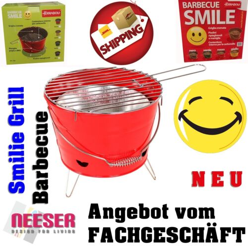 Barbecue Grill Grilleimer Partygrill Minigrill Campinggrill Picknickgrill SMILIE