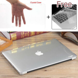 new concept 63d3a 59622 Clear Glossy Crystal Hard Case Keyboard Cover Fr Macbook Pro Air ...
