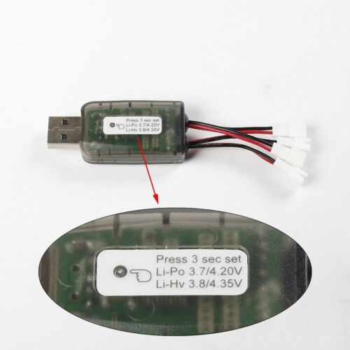 AOKoda CX405 4CH Micro USB Battery Charger For 1S Lipo LiHV Battery  RC FPV Quad
