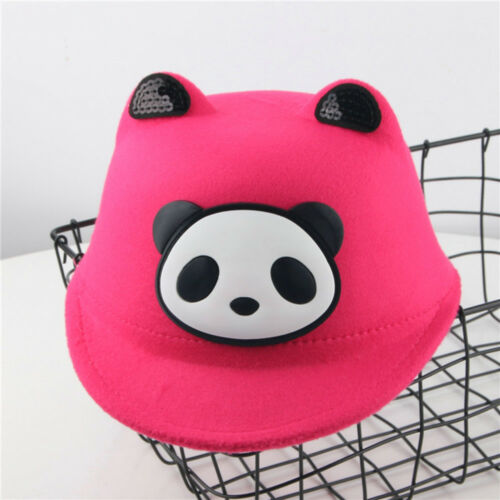 Child Girl/&Boy Bongrace Winter Fall  Cartoon Panda Warm Hat Peak Baseball Cap