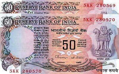 INDIA 50 Rupees 1997 P84j Letter C UNC Banknote