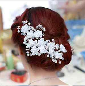 Brautschmuck haare perlen  Haarnadel Hochzeit Spange Perlen Strass Haarspange Brautschmuck ...
