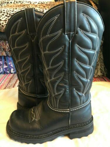 john fluevog vintage cowboy boot women's black