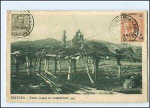 S2630/ Eritrea  Edmo in construzione AK 1924  Italien Kolonie