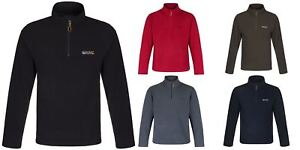 Regatta-Elgon-para-hombre-Half-Zip-Fleece-Pullover-Jumper-Top-RMA236