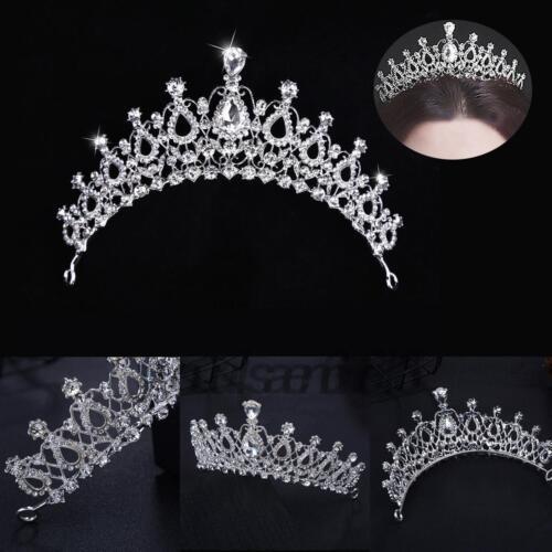 Princess Bridal Wedding Rhinestone-Crystal Tiara Hair Band Prom Crown Headband