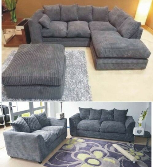 Luxury 2 Seater Sofa Chair Grey Tufted