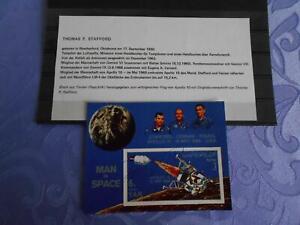 Apollo 10 Sheet original signiert Thomas Stafford Space