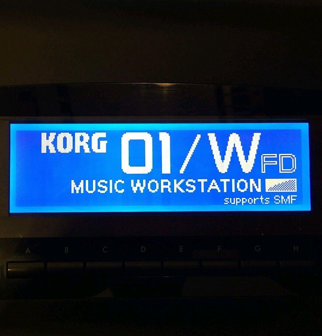 Korg 01 W - 01 WFD - 01 Wpro - 01 WproX - 01R W LED Display