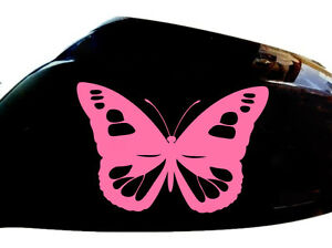 Butterfly-Girl-Car-Stickers-Wing-Mirror-Styling-Decals-Set-of-2-Pink