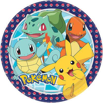Utile Ragazzi Ragazze Festa Di Compleanno Celebrazione Pokemon Pikachu Piatti Di Carta Per La Tavola-mostra Il Titolo Originale