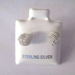 argento-sterling-piccolo-a-spirale-WOOLMARK-Orecchini-a-lobo