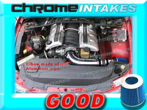 BLACK BLUE 2005 2006 PONTIAC GTO G T O 5.7 5.7L//6.0 6.0L V8 FULL AIR INTAKE KIT