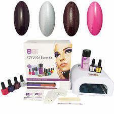 Party Girl 4 Colour UV Nail Gel Polish Starter Kit Set with 36W Lamp CCO