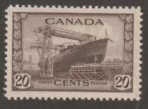 Canada 1942 #260 KGVI War Issue (Corvette) - VF MNH