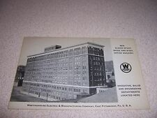 1930s NEW OFFICE BUILDING WESTINGHOUSE ELECTRIC CO. EAST PITTSBURGH PA. POSTCARD