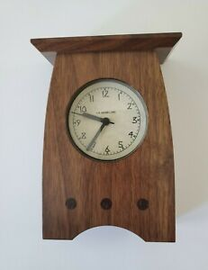 Schlabaugh & Sons Wooden Mission Style Table Top Mantel Clock For Desk Shelf