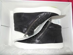 2ad4c1d9d65 Details about Steve Madden Dexxterr Mens Black Leather High Top Sneakers  Shoes Brand New Men