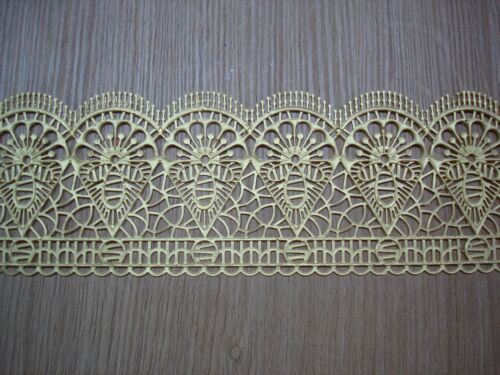 decorative GOLD  edible cake lace