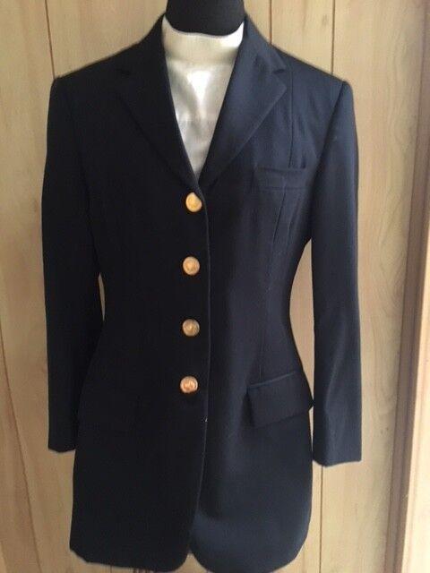 ERMILIO Dressage COAT Ladies 16 Midnight bluee   w  Crown Buttons VGC  best price