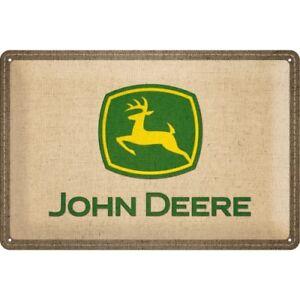 Blechschild-22222-John-Deere-Patch-Logo-20-X-30-cm