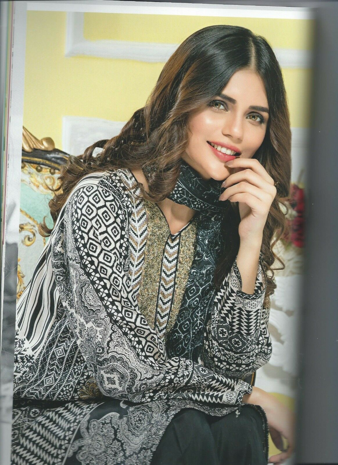 Falak Fabrics Oriental Viscose Suit Collection Black 20 2019 Pakistani Indian