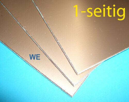 Epoxyd Platine 100x160mm einseitig kupferbeschichtet Leiterplatte