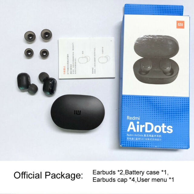 Original Xiaomi Redmi AirDots Mi Wireless Earbuds Basic Bluetooth Earphone.