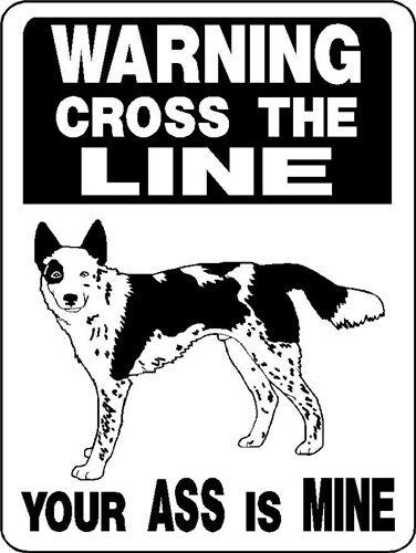 AUSTRALIAN CATTLE DOG  Aluminum Sign Dog Decal V3026