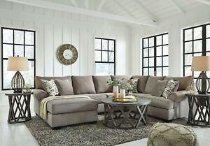 Ashley Furniture Renchen 3 Piece Sectional Pewter Ebay