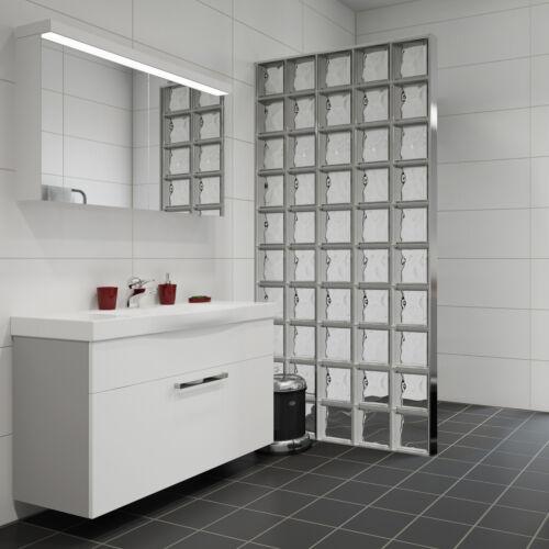 5 pièce Briques de Verre Nuage Transparent Incolore 19x19x8cm