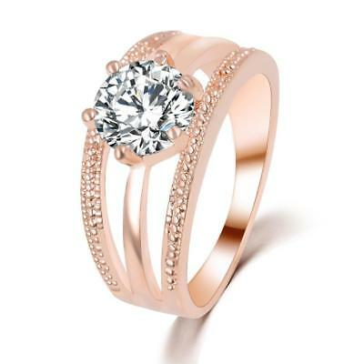 Luxus Ring Schildkröte Zirkonia Kristalle 18 K Rosegold plattiert Kopf beweglich