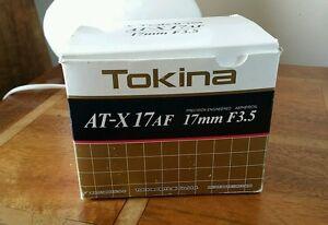 Tokina-17mm-F-3-5-aspherical-Lens-For-Nikon-Nikkor-Mount-Boxed-amp-Rare