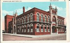 1920's The Spanish Club Building in West Tampa, FL Florida PC