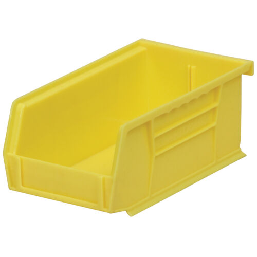 Akro-Mils 30220YELLO Stack /& Hang Bin 7-3//8D x 4-1//8W x 3H Yellow  24 pack