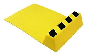 PROGRIP 905010 Adhesive Parking Guide with Wheel Chock and Mat, Yellow