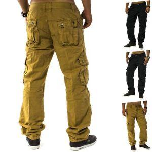 Pantalon-cargo-Chino-Jean-ample-coupe-cargo-pantalon-de-travail-homme-Trophee