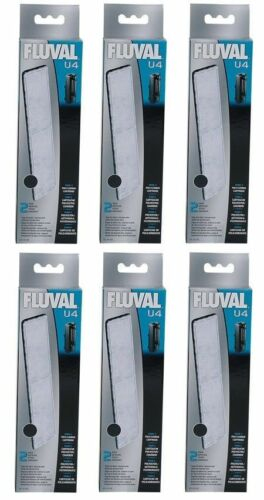 (6) FLUVAL U4 UNDERWATER FILTER POLY/CARBON A492 2PKS.
