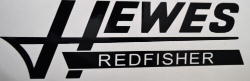 1 Hewes Redfisher Vinyl Boat Decal Black Sticker Logo Hull Car Truck Window