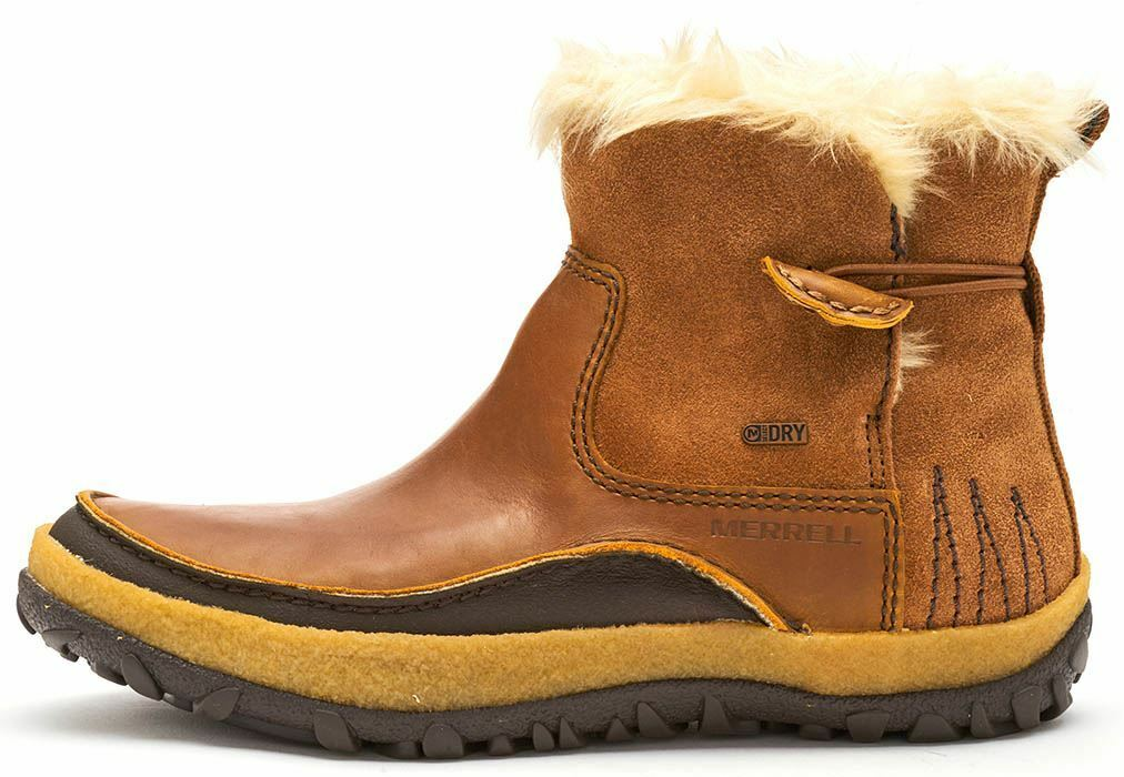 Merrell Tremblant Pull On Stivali Donna in Pelle polare in Merrell OAK BROWN J45932