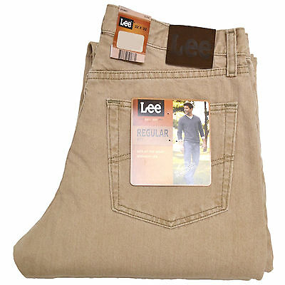 Lee Mens Jeans Regular Fit Straight Leg Pant Trousers 29 30 31 32 33 34 36 38 40