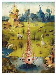 Details about Postcard Hieronymus Bosch Garden of Earthly Delights  (Paradise , Detail) MINT