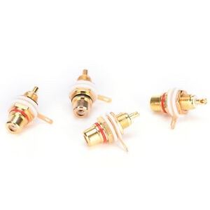 10-Pcs-Gold-Plated-Female-RCA-Phono-Jack-Panel-Mount-Chassis-Connectors-Socket-D
