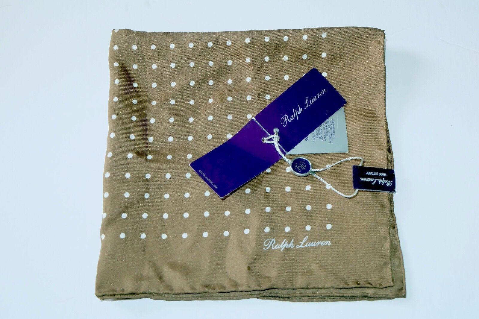 NWT Authentic RALPH LAUREN Purple Label Pocket Square, Silk, ITALY