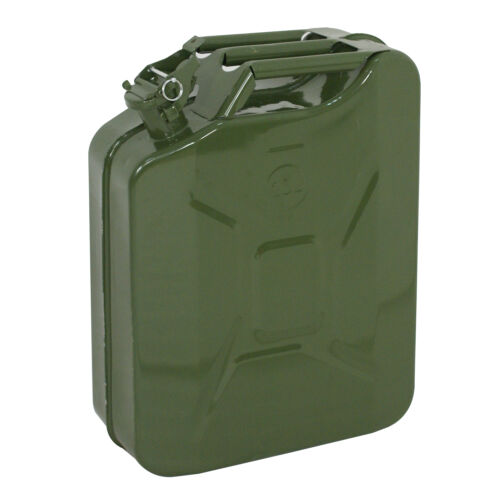 5X Jerry Can 5 Gallon 20L Gas Fuel Steel Tank Emergency Backup Army Military