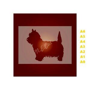 WEST-HIGHLAND-TERRIER-Dog-Stencil-350-micron-Mylar-not-Hobby-stuff-DOGS101